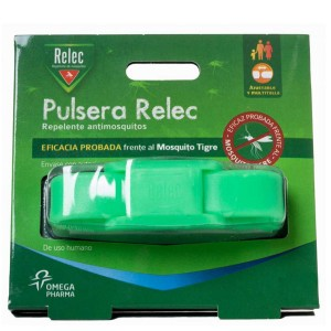 RELEC PULSERA ANTIMOSQUITOS REPELENTE COLOR VERDE