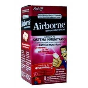 AIRBORNE INMUNODEFENSAS COMP MASTICABLES  FRUTOS DEL BOSQUE 10 COMP